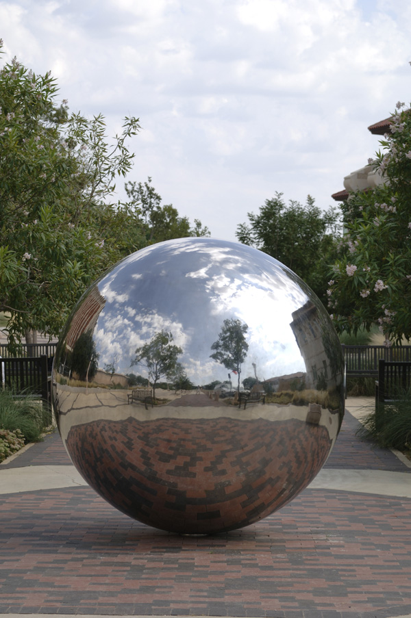 Sculptural Spheres Crazy Wonderful: Large Stainless Steel Garden Spheres